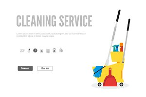 Banner for cleaning Company