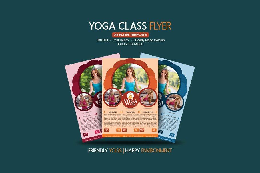 Yoga Class Flyer Creative Photoshop Templates Creative Market