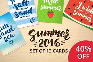 40% OFF! Summer 2016 cards