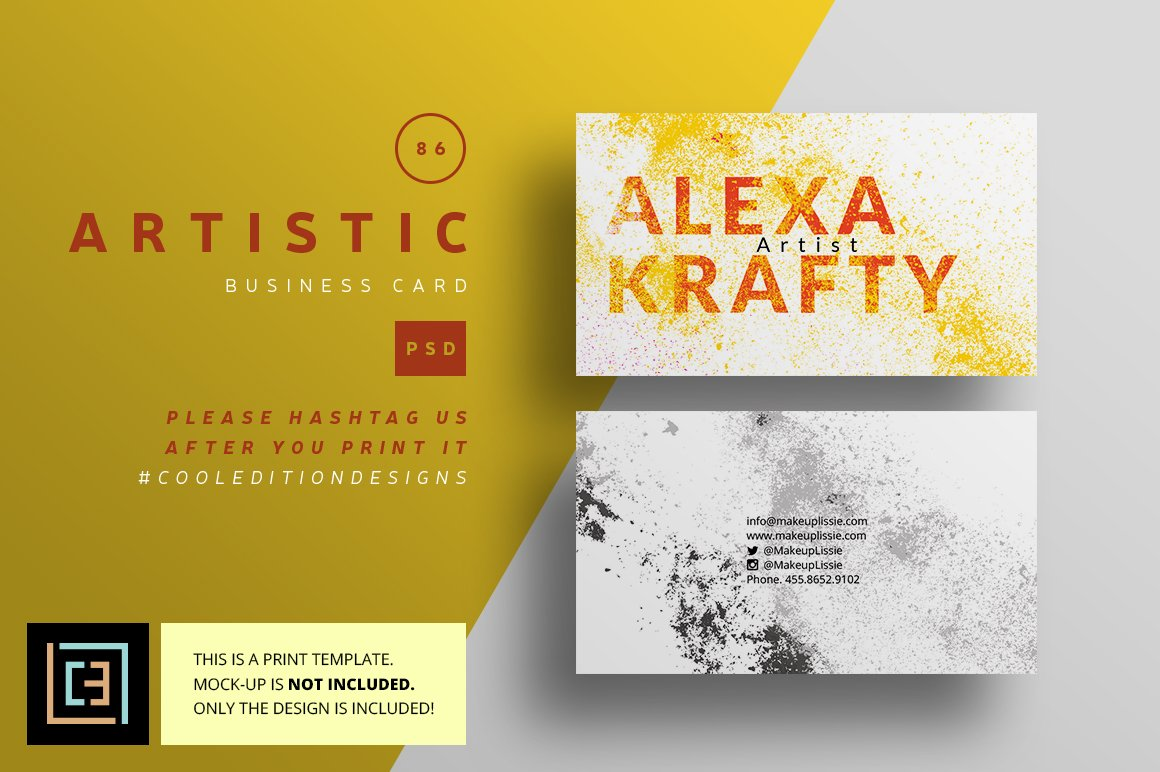 artistic business card 86 business card templates creative market