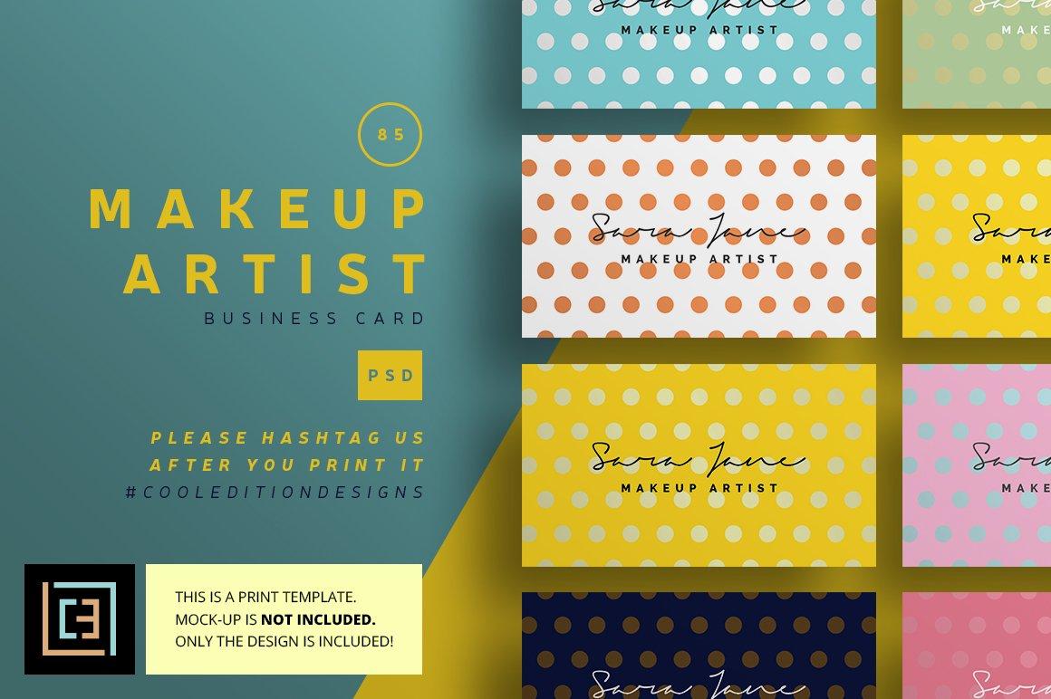 Makeup Artist - Business Card 85 ~ Business Card Templates ...