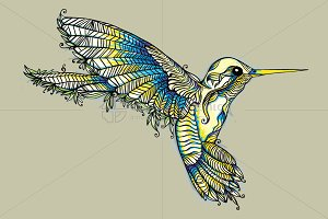 Humming Bird-Creative Vector Graphic