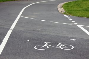 Bicycle roadsign