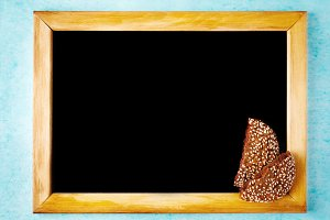 Background with Chalk Board