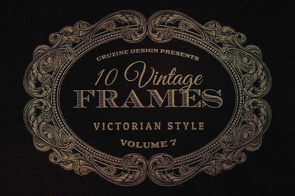 10 frames vol7 victorian ornament objects