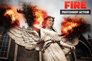 Add Fire Photoshop Action