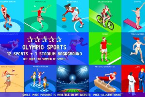 Olympic Set 2 3D Isometric