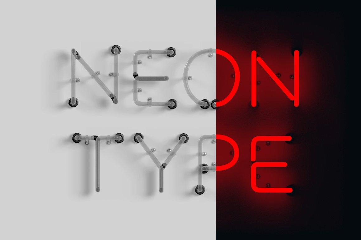 Neon Type Graphics Creative Market
