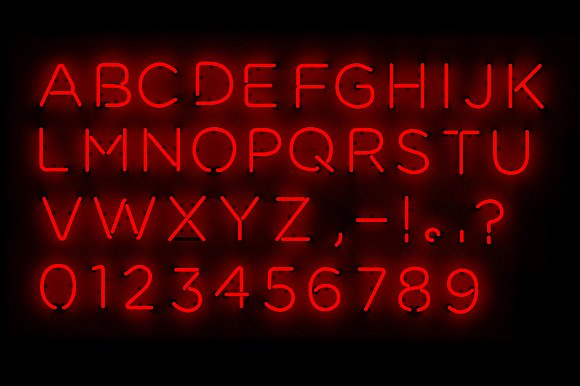 Neon type graphics creative market altavistaventures Gallery