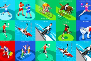 Olympic Set 3 3D Isometric