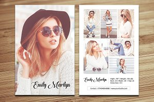 Fashion Model Comp Card -V340