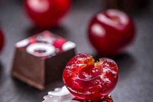 Delicious cherry truffle