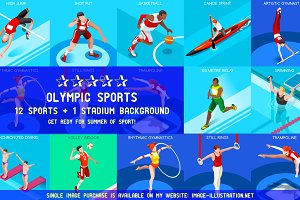 Olympic Set 6 3D Isometric