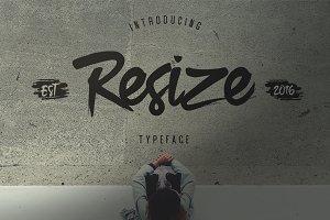 Resize Typeface
