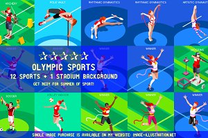 Olympic Set 7 3D Isometric