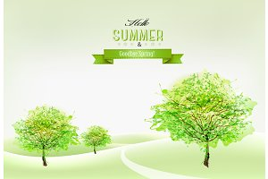 Beautiful summer nature background.
