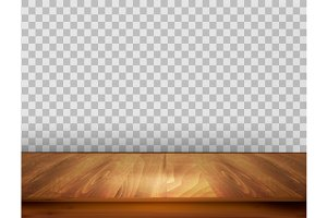 Background with a wooden floor.