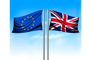 Two separate flags - EU and UK.