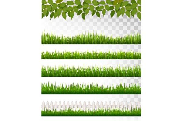 Several grass borders.