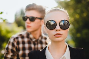 beauty couple hipster