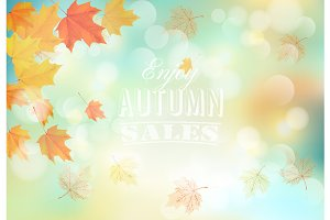 Enjoy autumn sales background