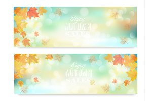 Enjoy autumn sales banners