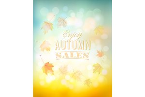 Enjoy autumn sales background.
