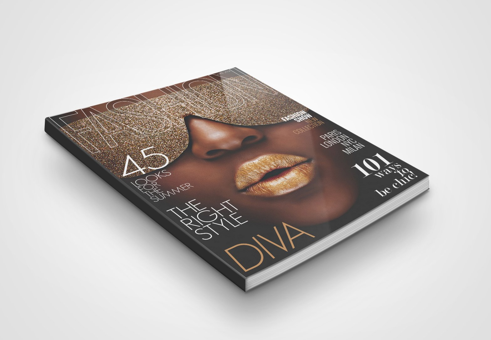 Magazine Cover Template 2 ~ Magazine Templates ~ Creative Market