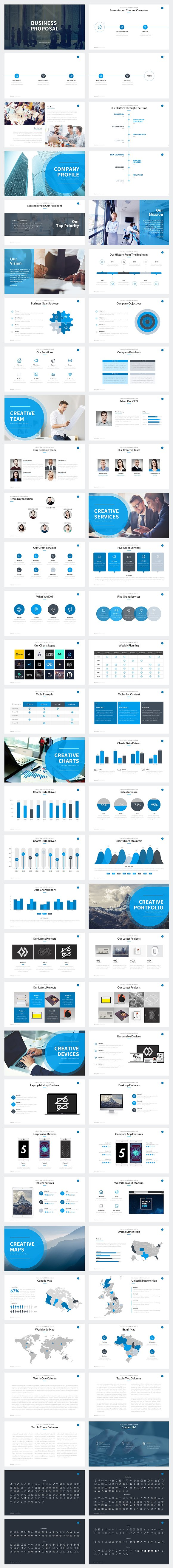 business proposal powerpoint presentation templates creative market