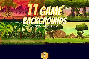 11 Game Backgrounds Pack