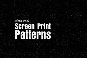 Screen Print Patterns (Illustrator)