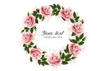 Beautiful rose wreath.