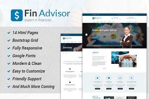 Fin Adviser - Bootstrap Template