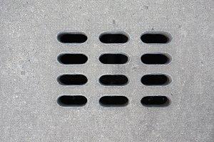 Drain gutter manhole