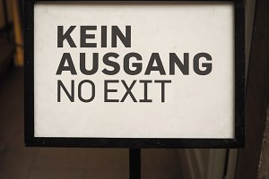 Kein Ausgang sign meaning No exit
