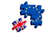 Brexit Puzzle Pieces.