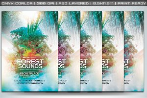 Forest Sounds Poster/Flyer Template