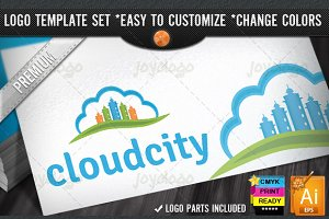 Skyscrapers Builders City Cloud Logo