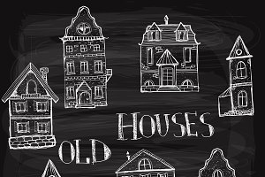 7 old styled houses