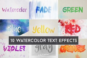 Watercolor Text Effects Mockup