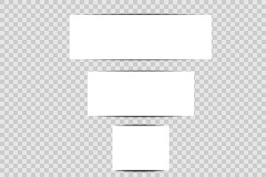 Banners template with shadow