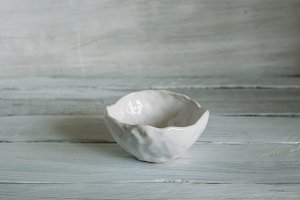 white clay bowl