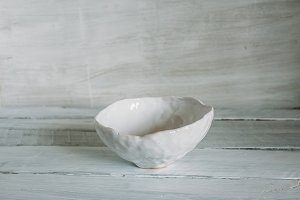 bowl of handmade clay