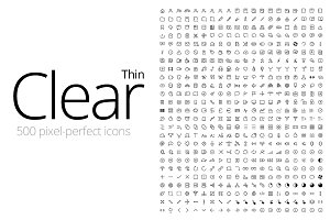 Clear Icons - Thin (500 Icons)