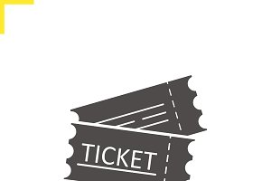 Tickets icon. Vector