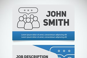 Business card print template. Vector