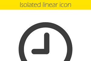 Clock linear icon. Vector