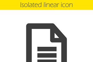 New document linear icon. Vector