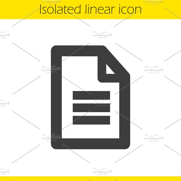 New document linear icon. Vector - Icons
