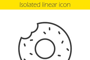 Doughnut linear icon. Vector